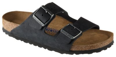 Birkenstock Arizona Soft Footbed Sandals for Ladies Black Oiled 38M