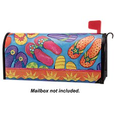 Magnet Works MailWraps Flip Flop Fun Magnetic Mailbox Cover by Sally Eckman Roberts