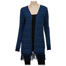 Natural Reflections Aztec Open-Front Cardigan for Ladies