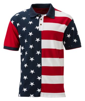 RedHead Stars and Stripes Polo for Men - Multi - S
