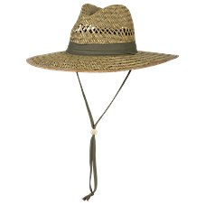 World Wide Sportsman Lifeguard Rush Straw Big Brim Hat for Men