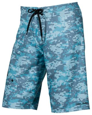 2f8f3f2979 Pelagic 4 TEK Digital Camo Board Shorts for Men Coral Camo Blue 34