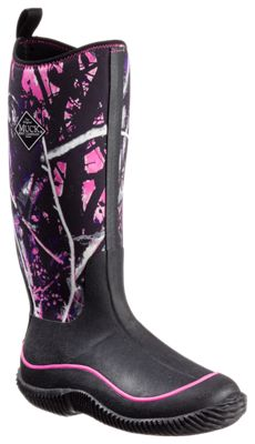The Original Muck Boot Company Hale Multi-Season Boots for Ladies – Black/Muddy Girl Camo – 8M