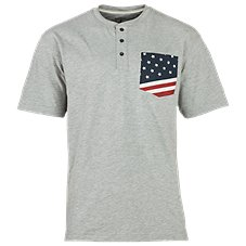 RedHead Stars and Stripes Accent Henley for Men