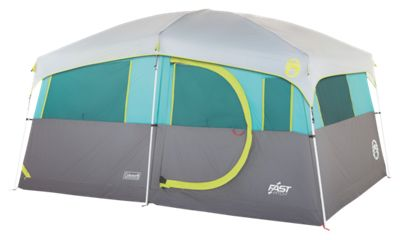 Coleman Tenaya Lake Lighted Fast Pitch 8-Person Cabin Tent with Closet by