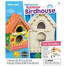 Master of Ahhh! Wooden Birdhouse with Lovebirds Craft and Paint Kit