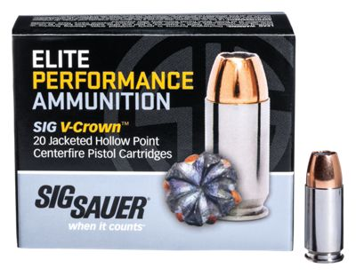 Sig Sauer Elite Performance V-Crown Handgun Ammo – 9mm – 115 Grain – 20 Rounds
