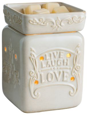 Candle Warmers, Etc. Live, Laugh, Love Illumination Wax Warmer by