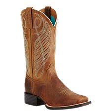 Ariat Round Up Wide Square Toe Western Boots for Ladies