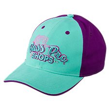 Bass Pro Shops Mint and Purple Sparkles Cap for Ladies