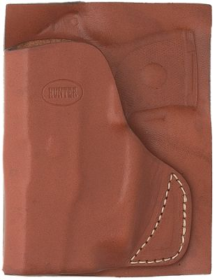 Hunter Company Leather Pocket Holster Brown Ruger Lcp W/crimson Trace Laser
