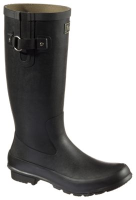 Natural Reflections Arianna Waterproof Rubber Boots For Ladies Black 11m
