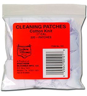 Southern Bloomer Cotton Knit Gun Cleaning Patches - 45 Cal - 100 pack