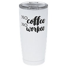 f0dd57f7b09 PURE Drinkware No Coffee No Workee Stainless Steel Tumbler