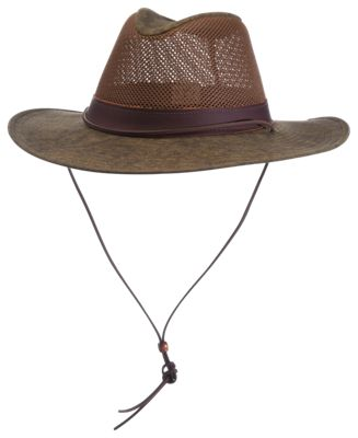 2b5feb9b15d RedHead Aussie Crushable Breezer Hat with Leather Band Distressed Brown M