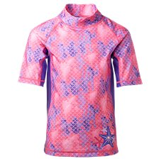 UV Skinz Short-Sleeve Sunny Swim Shirt for Toddlers or Girls
