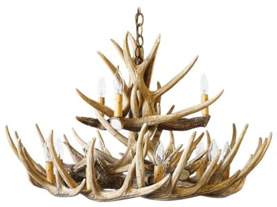 Cast Horn Designs Whitetail 15 Antler Chandelier by