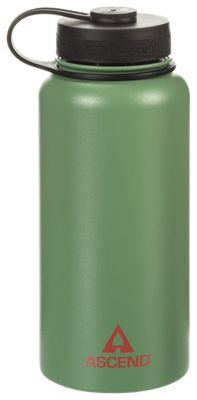 Ascend Wide Mouth Insulated Water Bottle - Forest/Orange - 32 oz.