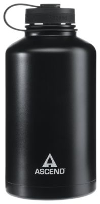 Ascend Wide Mouth Insulated Water Bottle - Black/White - 64 oz.