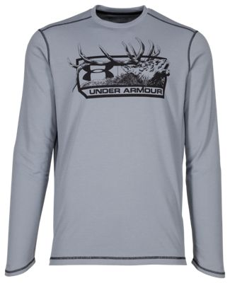 1db8926bdde Under Armour ColdGear Infrared Elk Pill Hunting Long Sleeve T Shirt for Men  Steel M