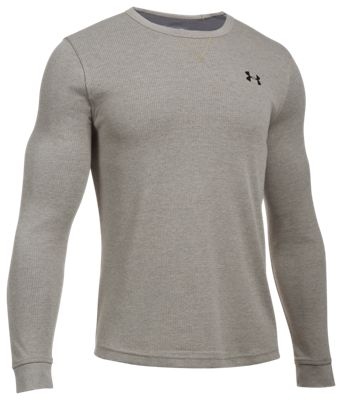 02516178 Under Armour Waffle Crew Shirt for Men Carbon Heather XL