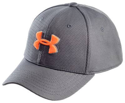 Under Armour Blitzing II Stretch Fit Cap for Kids Graphite Magma S M 529a230252f