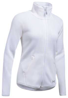 Image of Under Armour Extreme ColdGear FullZip Jacket for Ladies  White  XL