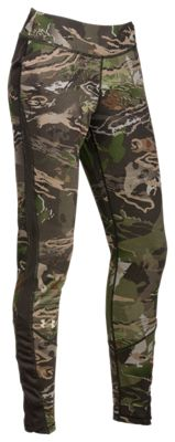 Under Armour Mid-Season Reversible Wool Base Leggings for Ladies – Ridge Reaper Camo Forest – S