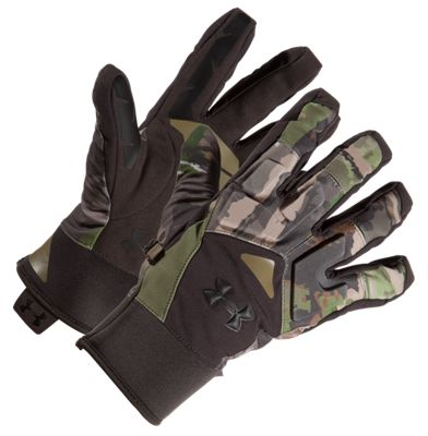Under Armour Scent Control Primer 2.0 Gloves for Men – Ridge Reaper Camo Forest – M