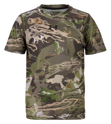 Under Armour UA Early Season Tech Short Sleeve Shirt for Youth – Ridge Reaper Camo Forest – S