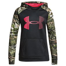 650b44c81dc17 Under Armour Armour Fleece Camo Blocked Big Logo Hoodie for Girls | Bass  Pro Shops
