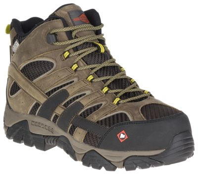 30bd446dd38 Merrell Moab 2 Vent Mid Waterproof Safety Toe Work Boots for Men