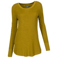 Natural Reflections Long-Sleeve Rib Knit Sweater for Ladies