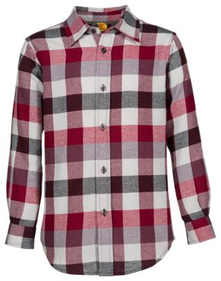 Bass Pro Shops Flannel Shirt for Boys - Red/Black - L