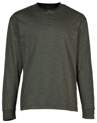 RedHead Cross Timber Henley for Men - Olive Night - S