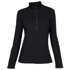 Natural Reflections 10-Button Mock Turtleneck for Ladies