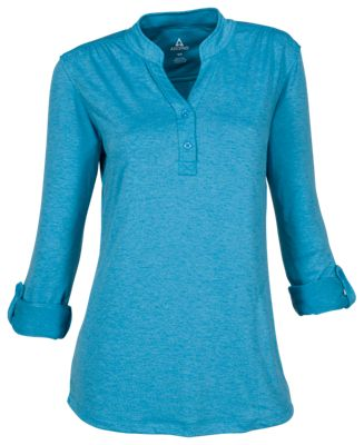 Ascend Tech Henley Pullover for Ladies - Seaport - 2XL