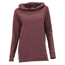 Natural Reflections Terry Cowl Neck Top for Ladies
