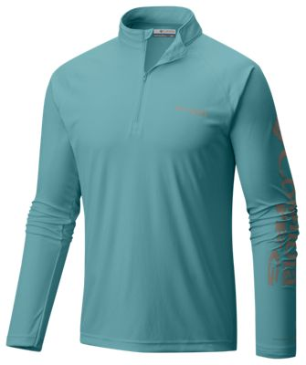 Columbia Terminal Tackle 1/4-Zip Pullover for Men – Teal – L