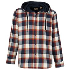 RedHead Hooded Jersey-Lined Flannel Shirt for Men