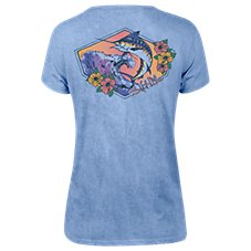 Salt Life Marlin Waves T-Shirt for Ladies