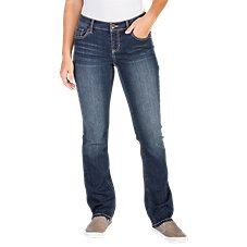 Natural Reflections Corded Back Straight Leg Jeans for Ladies