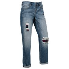 Natural Reflections Deconstructed Straight Leg Jeans for Ladies