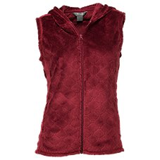 Natural Reflections Plush Fleece Hooded Vest for Ladies