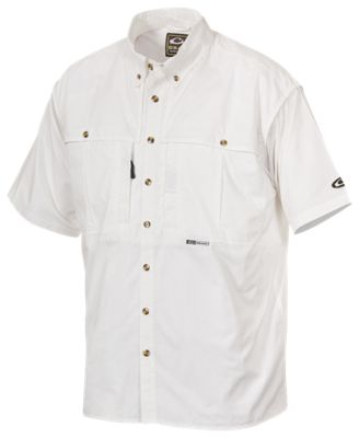 Drake Waterfowl Cotton Wingshooter's Short-Sleeve Shirt with StayCool Fabric for Men - White - XL