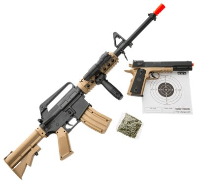 Colt M4 RIS Airsoft Rifle and 1911 Airsoft Pistol Kit - 6mm/Airsoft BB