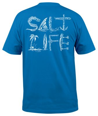 98210404f148 Salt Life Icons of Salt Pocket T Shirt for Men Royal L