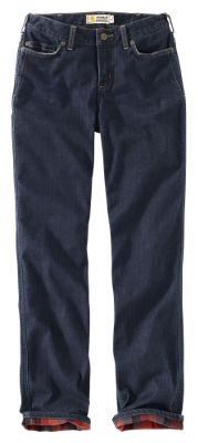 Carhartt Original Fit Blaine Flannel-Lined Jeans for Ladies - Midnight Sky/Storm Gray - 10 Regular
