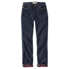 Carhartt Original Fit Blaine Flannel-Lined Jeans for Ladies