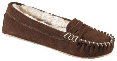 Natural Reflections Allie Moc Slippers for Ladies - Dark Brown - 9M